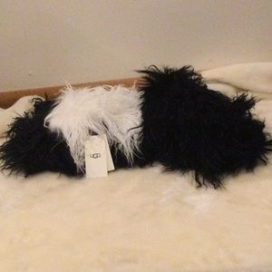 Ugg shearling authentic goat hair scarf